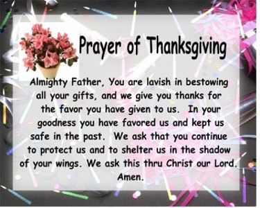 Prayer of Thanksgiving