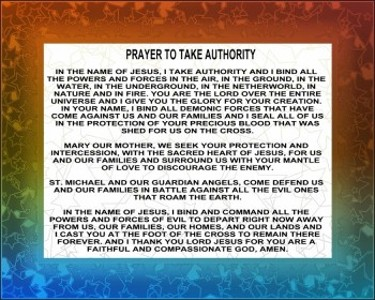 Prayer to take Authority