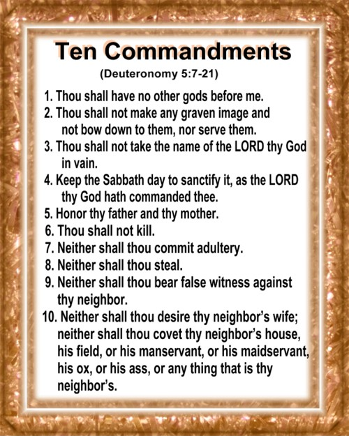 Handy image intended for free printable ten commandments